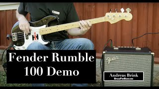 Fender Rumble 100 bass combo DEMO
