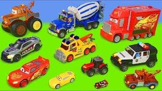 Koparki, Koparka, Ciągnik, Disney Cars - Lightning McQueen Zabawki - Excavator Toy Vehicles