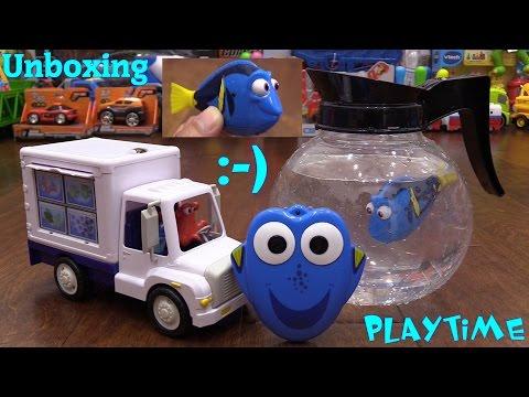 Disney Pixar Finding Dory Aquarium Truck, Coffee Pot Playset, Hot Wheels and Thomas & Friends