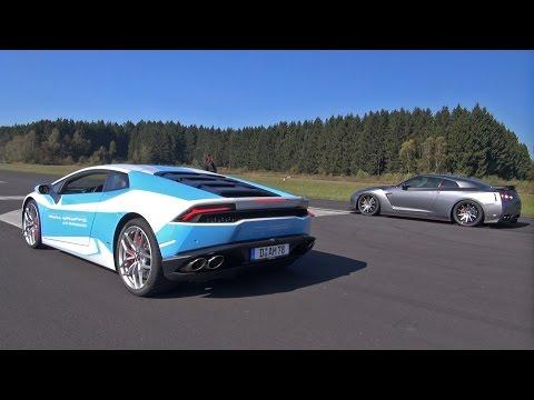 Lamborghini Huracán LP610-4 Vs Nissan GT-R HKS GT800!