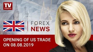 InstaForex tv news: 08.08.2019: Traders hesitate to sell USD (USD, Dow Jones, EUR, CAD)