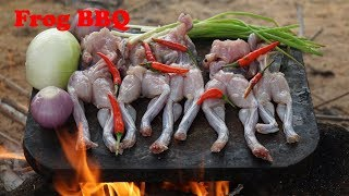 ABC Food Cuisine : Cooking Frog BBQ On Rock/Food Cuisine