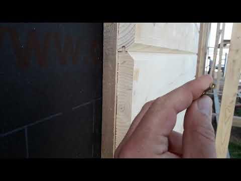Крепёж имитации бруса на фасады каркасного дома в Орлином