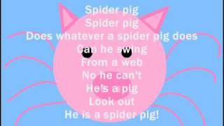 HOMER SIMPSON - Spider Pig With Lyrics