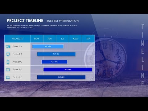 How To Create Project Timeline Table Presentation Slide in Microsoft Office PowerPoint PPT