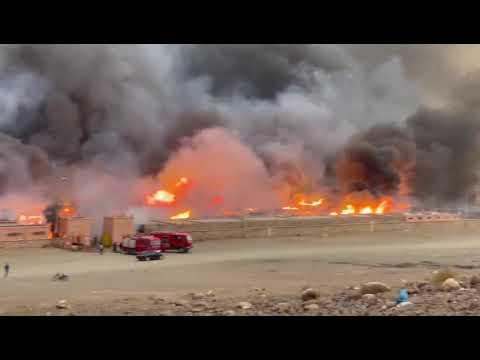 حريق ضخم يحول السوق الأسبوعي لزاكورة إلى رماد .. وخسائر بملايين الدراهم