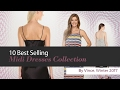 10 Best Selling Midi Dresses Collection By Vince, Winter 2017