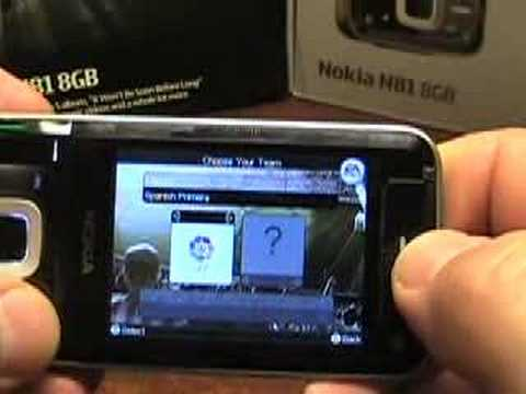 N-Gage gaming on the Nokia N81 8GB