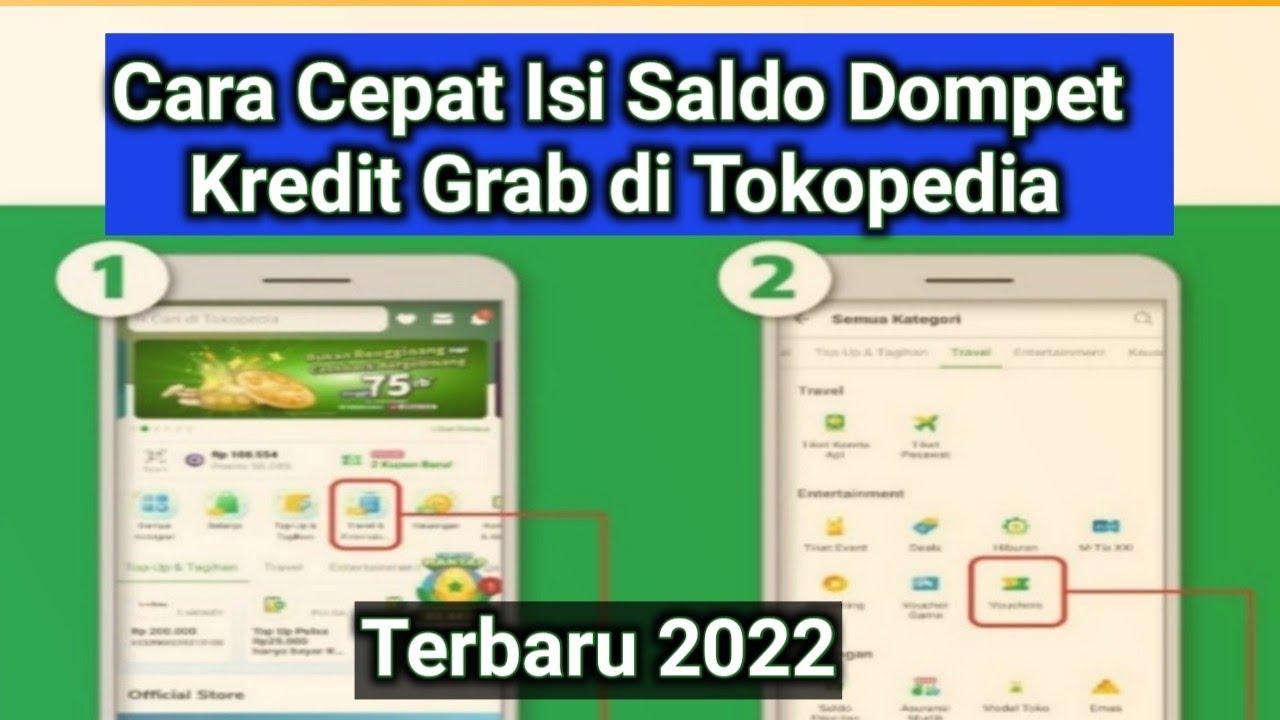 Cara Top Up Dompet Kredit Grab Di Tokopedia Youtube