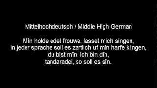 Bodo Wartke, Liebeslied in 85 Sprachen, mit Texten, 1. Teil