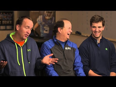 Eli Manning talks to Peyton about being benched