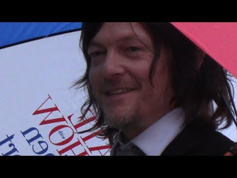 Norman Reedus Outside The Late Show