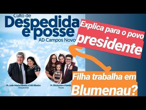 Blumenau X Campos Novos - Afinal Filha Do Presidente Trabalha Onde?