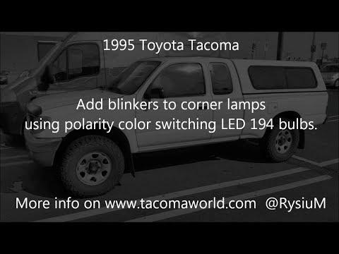 1995 Toyota Tacoma front blinkers in parking lights