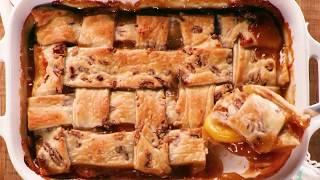 3 Classic PEACH DESSERTS: Pecan-Peach Cobbler | Peach Ice Cream | Peach-Raspberry Buckle