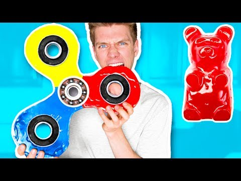 Thumbnail: DIY GIANT GUMMY FIDGET SPINNER!!!!! How To Make Rare Edible Candy Fidget Spinners Toys & Tricks