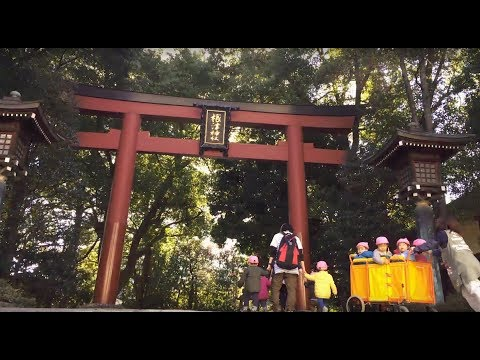 Visiting a Shinto shrine in Japan