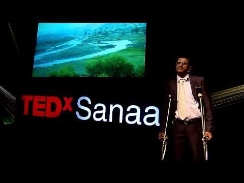 Achieving my dreams despite the pain (from Yemen to Italy): Hamdan Al-Zeqri at TEDxSanaa 2013