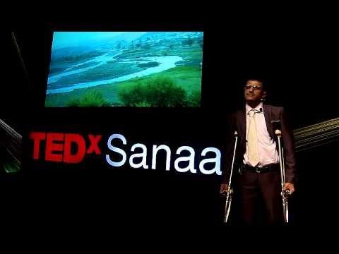 Achieving my dreams despite the pain (from Yemen to Italy): Hamdan Al-Zeqri at TEDxSanaa 2013
