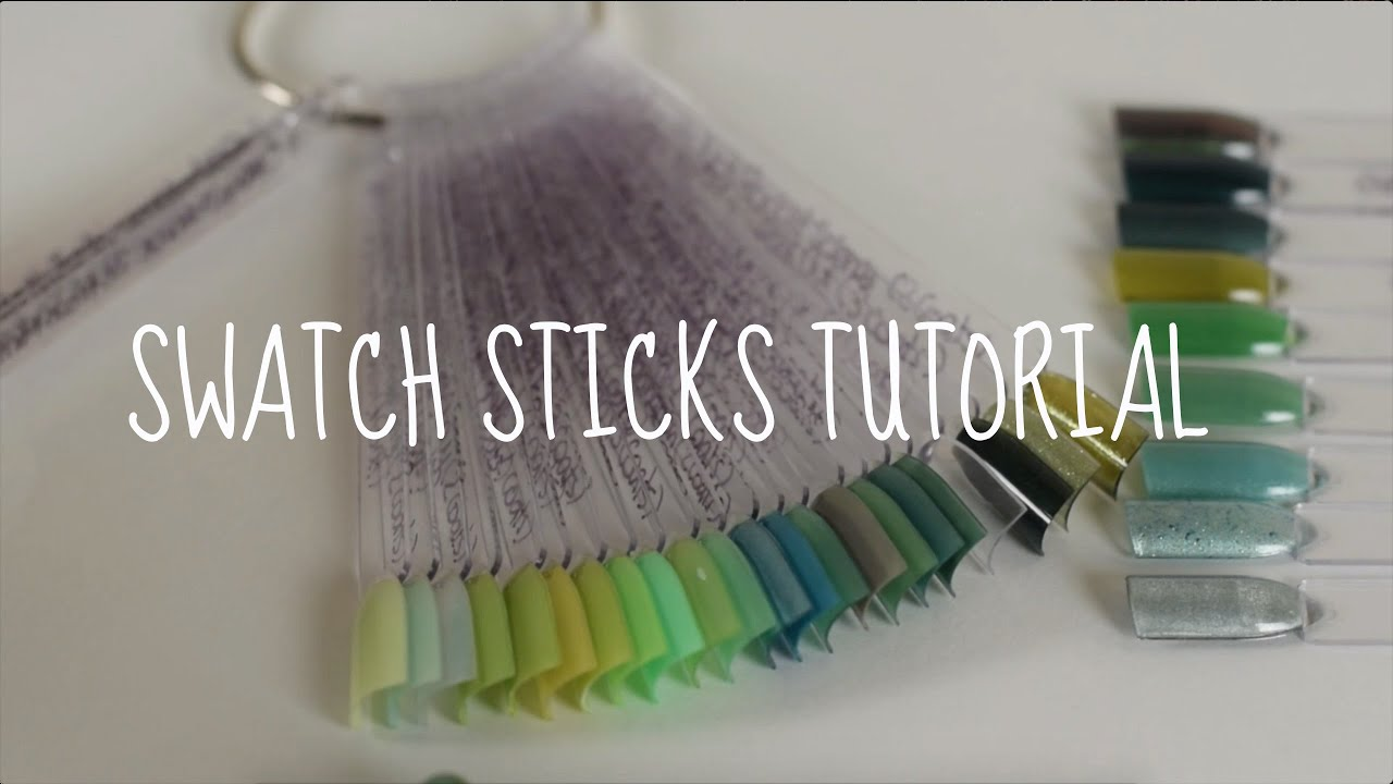 Make Your Own Swatch Sticks