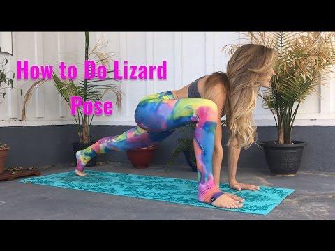 lizard pose yoga tutorial  vintantra  yoga for balance