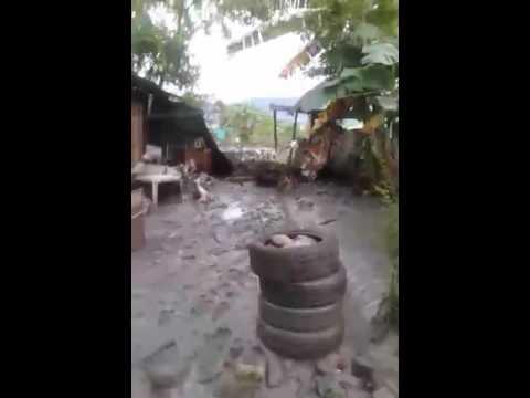 Familias afectadas por desbordamientos del río Guatiquía