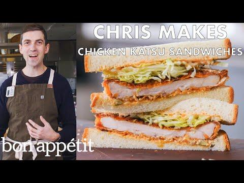 Chris Makes Spicy Chicken Katsu Sandwiches   From The Test Kitchen   Bon Appétit
