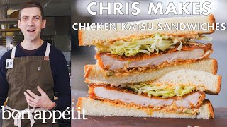 Download Chris Makes Spicy Chicken Katsu Sandwiches | From the Test Kitchen | Bon Appétit Mp3 and Videos