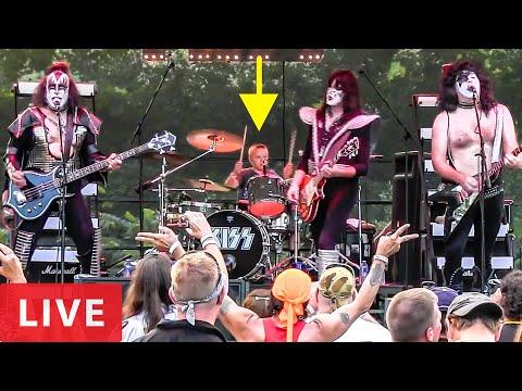 LOVE GUN - LIVE (9 year old Drummer) Avery Drummer & Cold Gin