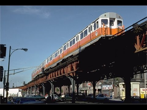 Passengers take last ride on Boston's elevated rapid transit rail