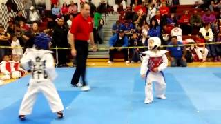 Awesome 7 Year Old Taekwondo Sparring Match -