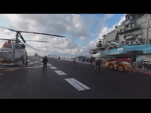 RT aboard Russia's largest aircraft carrier