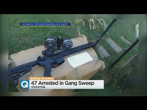 Big Stockton Gang Sweep Nets Nearly 50 Arrests
