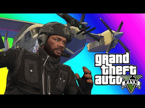 gta5 online funny moments  new attack plane and roflcopter sumo!