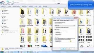 cara mengubah/mengganti icon folder dengan gambar pada windows