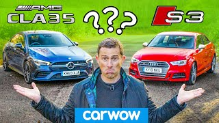 AMG CLA 35 vs Audi S3 - 0-60mph, driving, interior and exterior review.