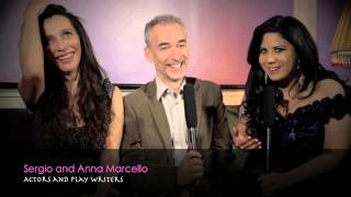 ART IN FUSION TV - INTERVIEWING ACTORS : SERGIO AND ANNA MARCELLO AT THE PRE - CANNES FESTIVAL PARTY