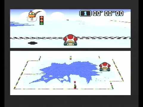 "Super Mario Kart (PAL) Time Trial : Vanilla Lake 2 (VL2) - 9""77 non-NBT - Opener World Record"