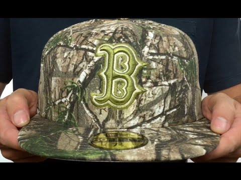 Red Sox  MLB TEAM-BASIC  Realtree Camo Fitted Hat by New Era - YouTube ad48fd92c72