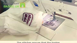 How to apply embroidered badges by a sewing machine