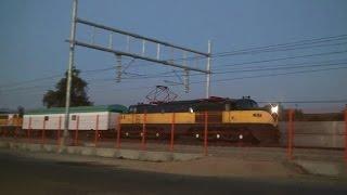 Salida del tren nocturno Terrasur Temuco con locomotora E-3209 - Viernes 13/02/2015