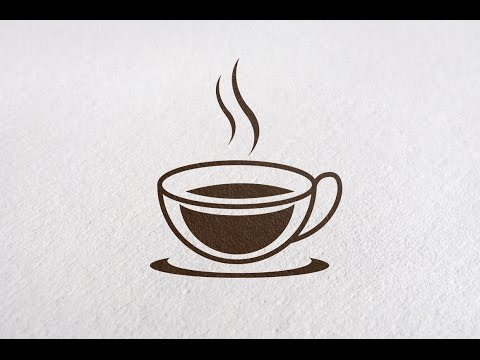 Professional Logo Design - Adobe Illustrator Tutorial - How To Make coffee Logo Design Style