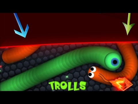 Slither.io NEW TRICK /BORDER TROLLING / Trapping Longest Snake / Best Montage