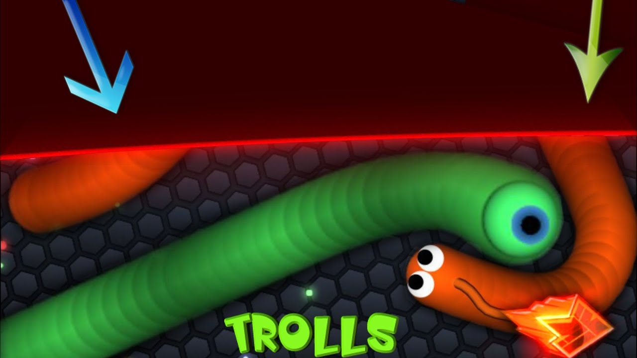 slither.io new trick /border trolling / trapping longest snake, Wohnzimmer dekoo