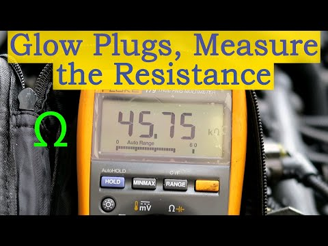 How to Test Glow Plugs - Measure the Resistance (Removed from the Vehicle)