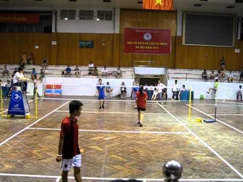 Set3 - Chung ket doi nam nu - Chi Linh vs HaNoi. Da cau HN 2011 - shuttlecock(Part01)