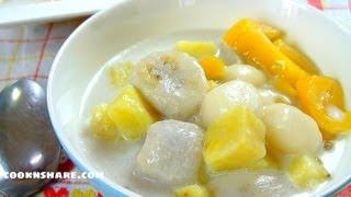 Ginataang Bilo-Bilo (Filipino Dessert)