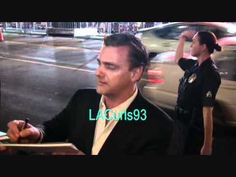 Ray Stevenson signs for fans on Hollywood Blvd.