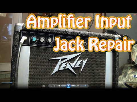 """DIY Guitar Amplifier Input Jack Repair - How to Fix a 1\4"""" Jack Thats Cutting Out on Guitar Amp"""