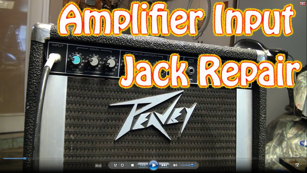 diy guitar amplifier input jack repair how to fix a 1 4 jack thats cutting out on guitar amp youtube [ 1280 x 720 Pixel ]